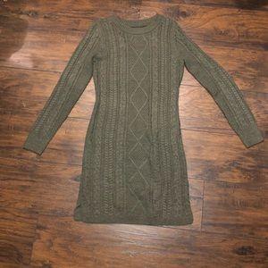 Army Green Sweater Dress.